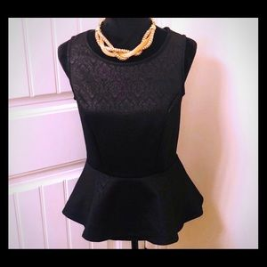 Peplum textured top